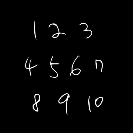 Vector fonts. Handwritten calligraphy