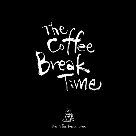 Cafe poster or sketchy coffee break time illustration vector.