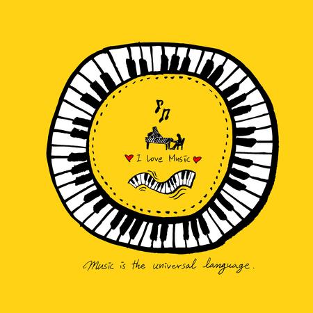 affiche de concert / illustration de musique fragmentaire - vecteur