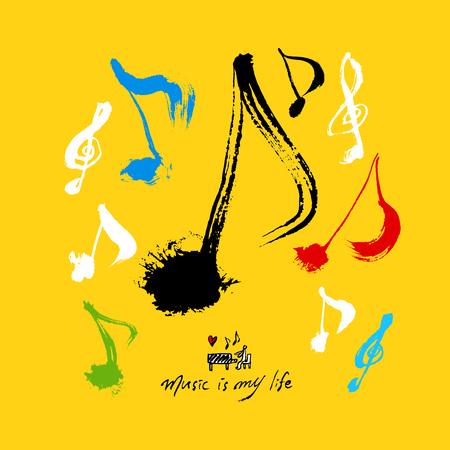 concert poster  Sketchy music illustration - vector