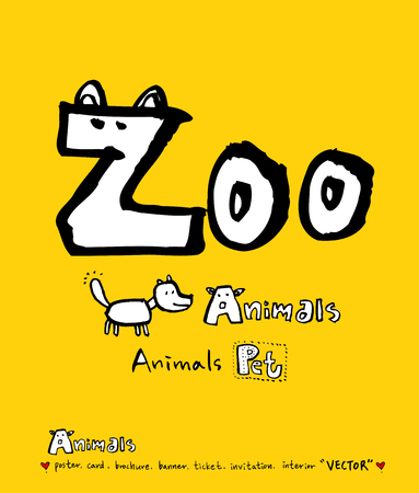 Animal illustration / Hand drawn Zoo sketch