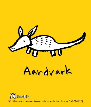 Animal illustration  Hand drawn Zoo sketch
