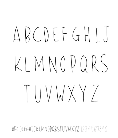 Czcionki wektorowe / odręczna kaligrafia Ilustracje wektorowe