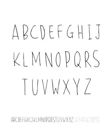 Fuentes vectoriales / caligrafía manuscrita Ilustración de vector