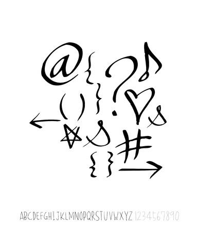Vector fonts / Handwritten calligraphy Stock Illustratie
