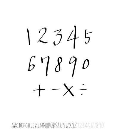 Vector fonts / Handwritten calligraphy Vector Illustratie