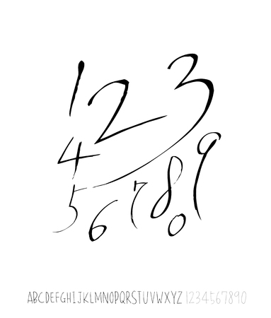 Vector fonts  Handwritten calligraphy