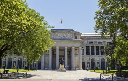 madrid  spain: El Prado Museum at Madrid Spain