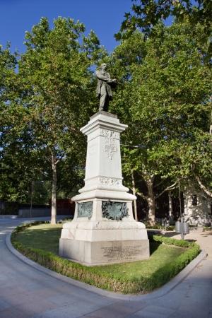 paseo: Claudio Moyano Statue at Madrid (Spain)