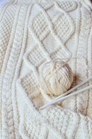 Irish cable knitting pattern Stockfoto