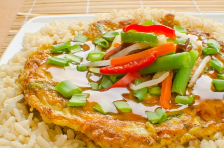 omelette: Egg Foo Young - Chinese vegetable omelet