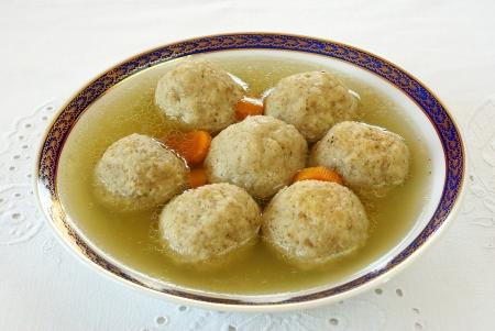 matzah ball: Matzo  Matzah  balls soup
