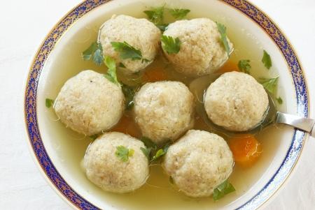 Matze Matzah ballen soep Stockfoto - 14874400