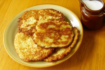 Potato pancakes  latkes                             photo