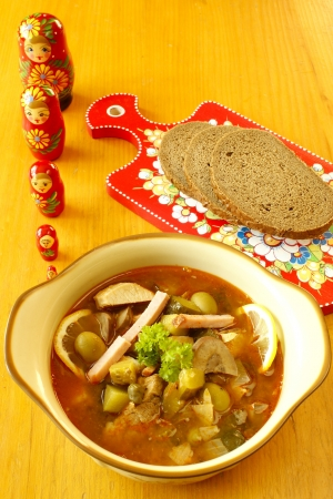 russian nested dolls: Solyanka - Russian soup