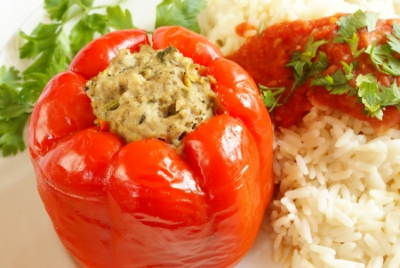 Bell pepper stuffed with meat                  photo