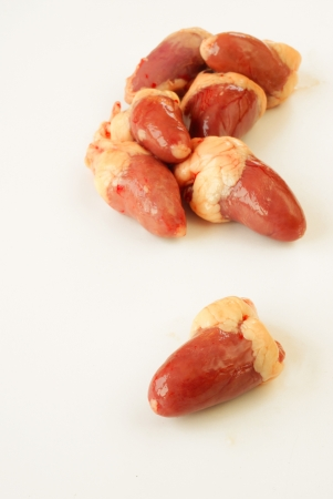 Rauwe kip harten Stockfoto