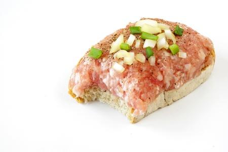 Mettwurst sandwich Stockfoto