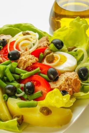 Nicoise salade Stockfoto - 15087882