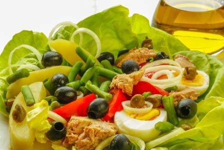 potato tuna: Nicoise salad                     Stock Photo