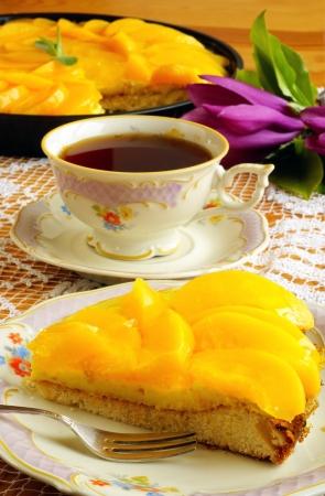 Peach taart