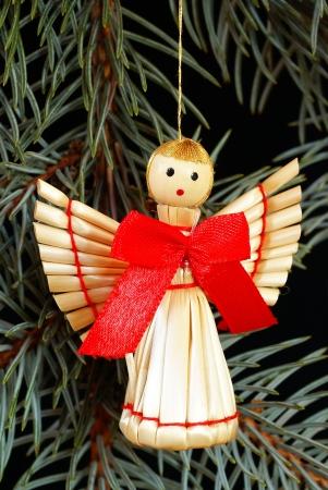 Kerst stro engel
