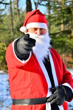 Kerstman in bos Stockfoto - 16379006