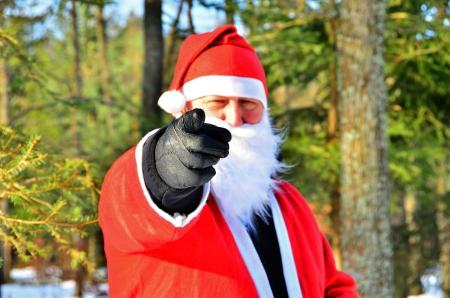 Kerstman in bos Stockfoto - 16379009