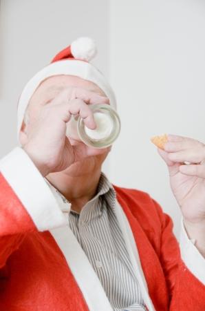 Kerstman consumptiemelk