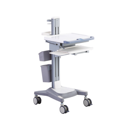 Mobile table, isolated on white background. Medical equipment Stock Photo