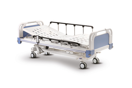 Mobile Hospital Bed, isolated on white background