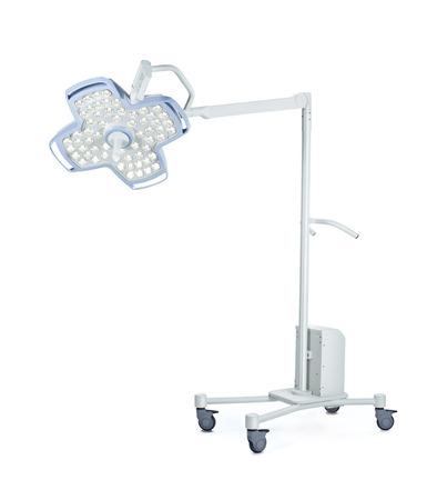 Mobile medical lighting, isolated on white background. Stock Photo