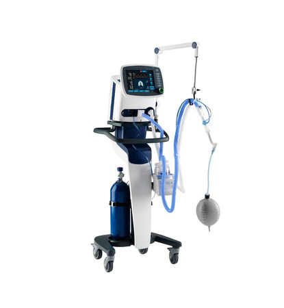Anesthesia machine, isolated on white background. Medical equipment Stock Photo