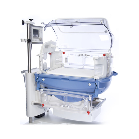 Neonatal Infant Incubator, isolated on white background. Medical equipment