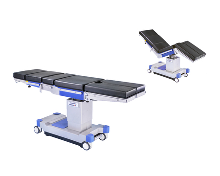 Mobile operating table, isolated on white