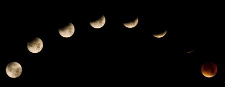 totalitarianism: Total Eclipse of the Moon on September 27 and 28th, 2015 Stock Photo