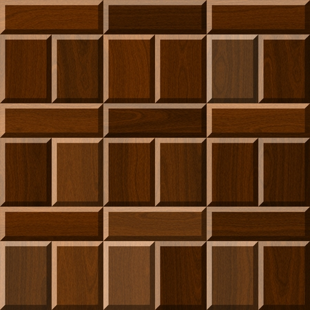 flooring: Seamless brown illustration of wooden parquet flooring Stock Photo