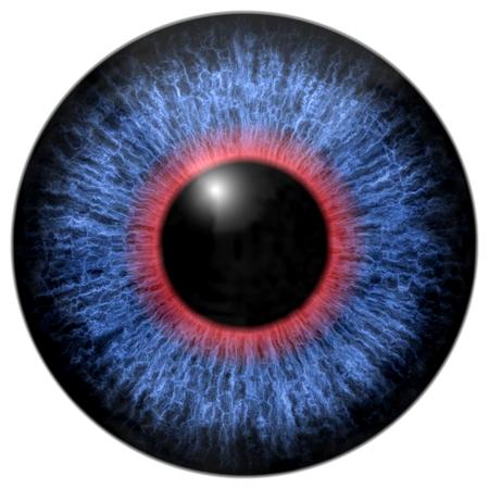 Blue - red eye iris isolated element on white background