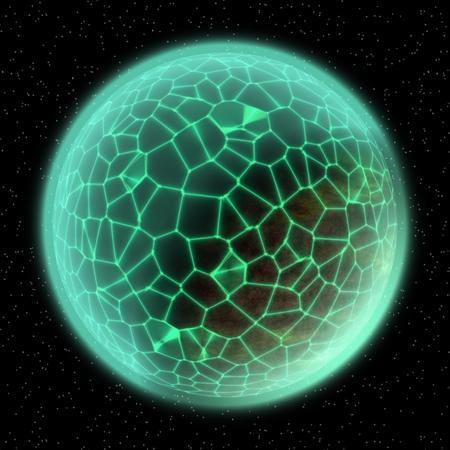 green globe: Futuristic abstract worldwide network network connection illustration green globe