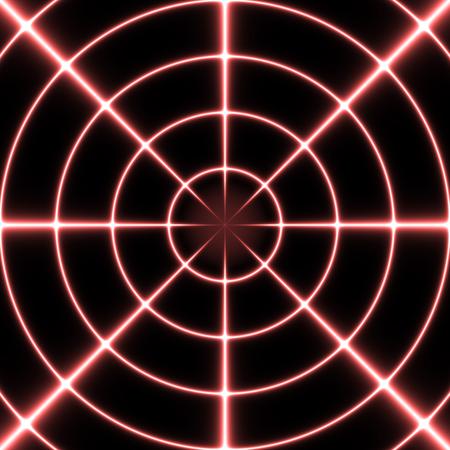 scifi: Red futuristic sci-fi sight on a black background