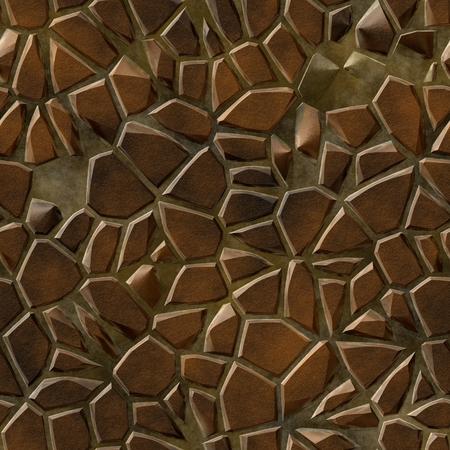 empedrado: textura abstracta sin fisuras de camino pavimentado patr�n  ilustraci�n