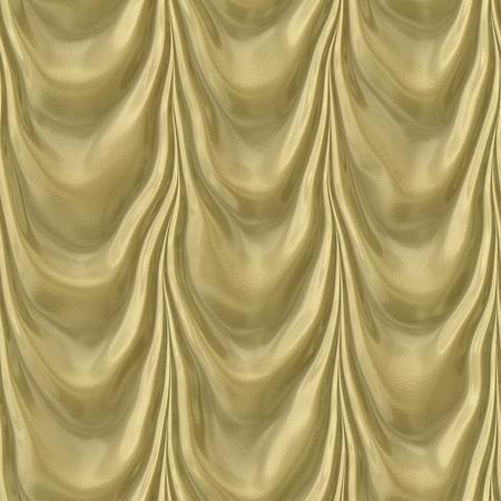 texture drapery: Illustration pattern of seamless gold drapery texture