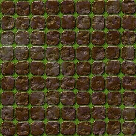 empedrado: textura abstracta sin fisuras de camino pavimentado patrón  ilustración