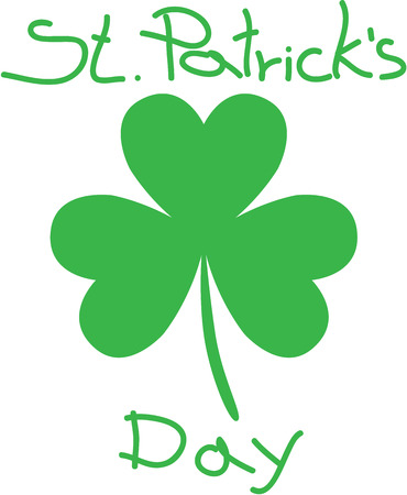 leaved: Three - leaved shamrock Saint Patricks Day  vector