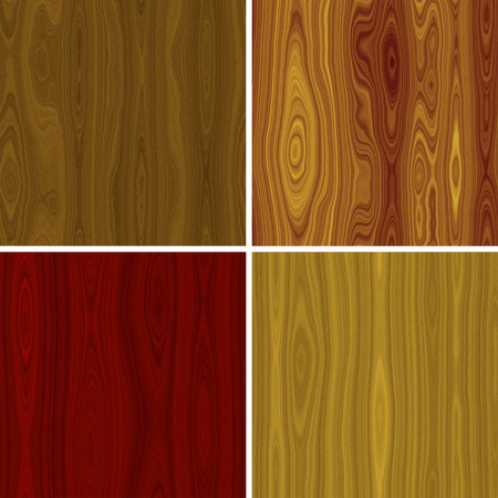 Set of wood seamless texture or background Stock Photo