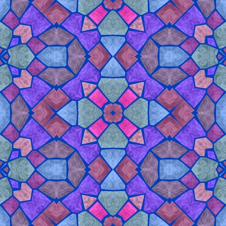 Abstract kaleidoscope seamless pattern for background  mosaic