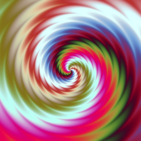 Abstract colorful illustration of hypnotic bright spiral