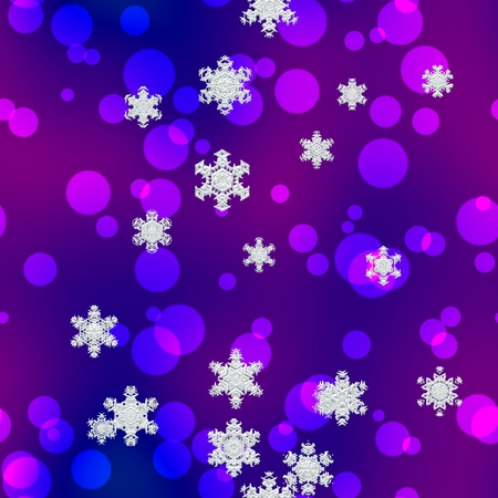 Christmas seamless background with snowflakes and balls