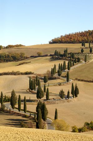 Tuscany landscape Banque d'images