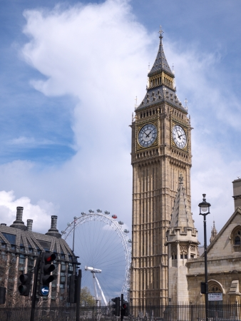 The Big Ben clock tower is part of the structure of the Houses of Parliament in London  The London Eye is Europe